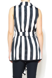 Nico LA Striped Belted Top - Back cropped