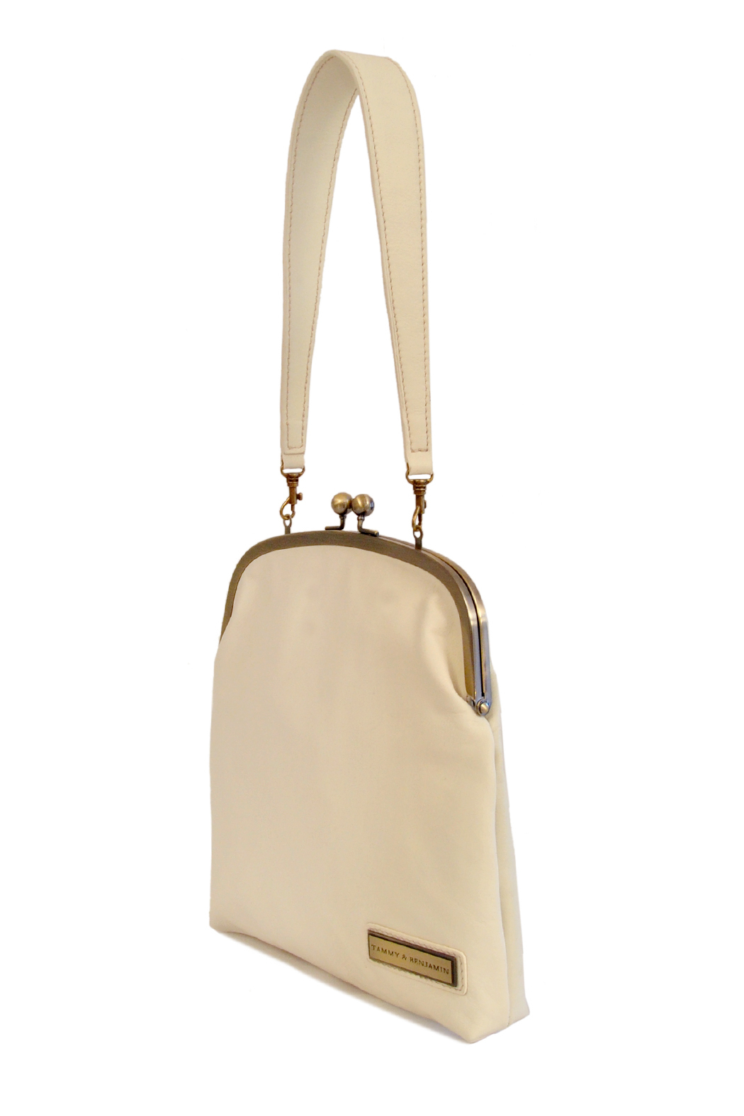 Tammy & Benjamin Single Clasp Leather Bag - Front Full Image
