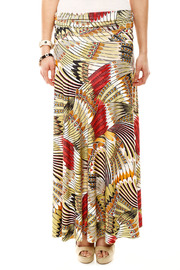 Isle Feather Maxi Skirt - Front cropped