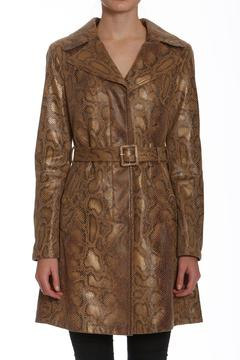 Members Only Faux Python Trench - Product List Image