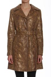 Members Only Faux Python Trench - Product Mini Image
