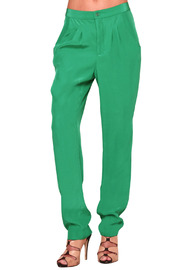 Shoptiques Product: Green Minke Silk Skinny Pant
