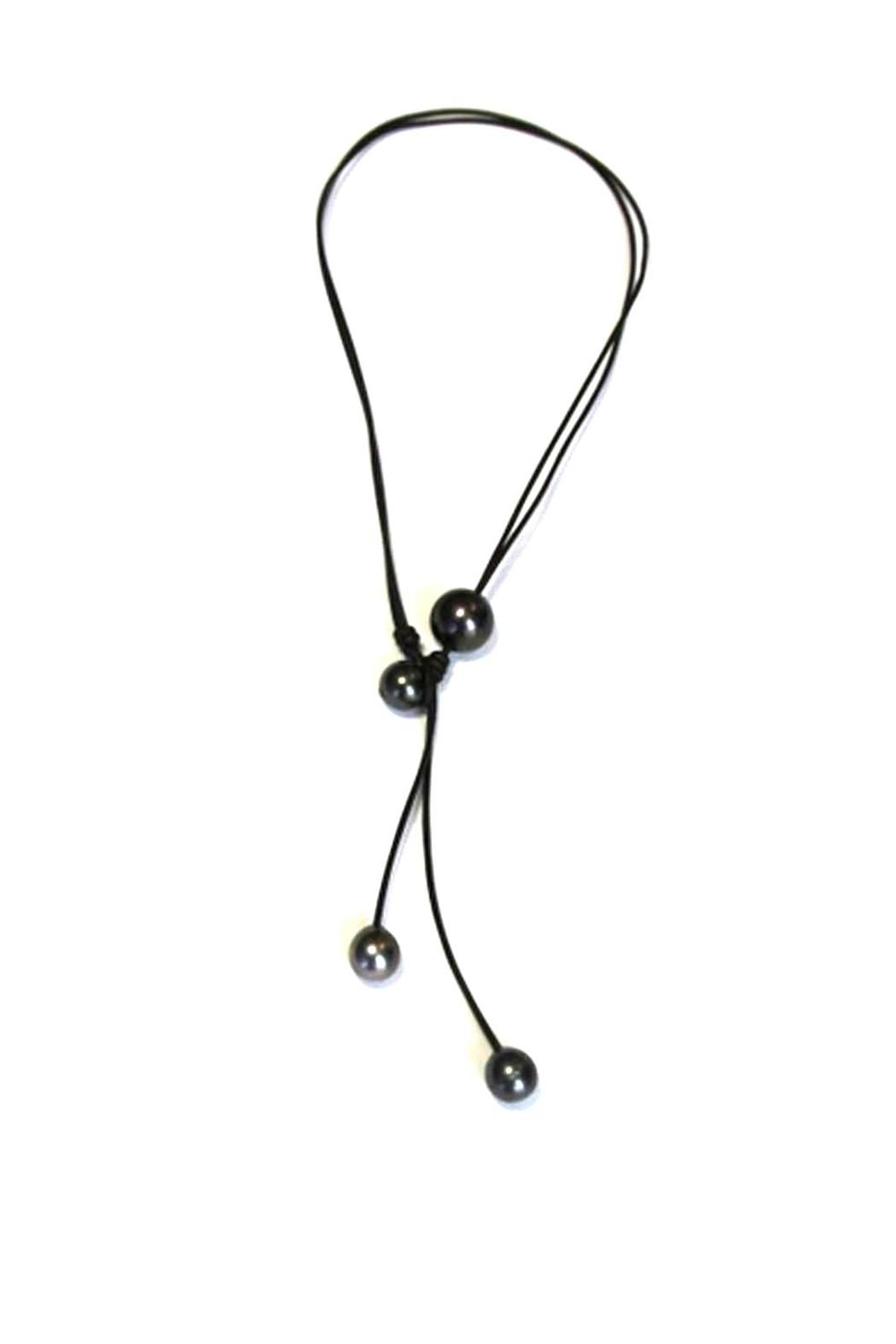 Lily Chartier Pearls Convertible Tahitian Necklace - Front Full Image