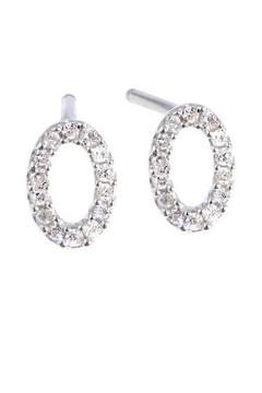 Shoptiques Product: Pave Oval Earrings