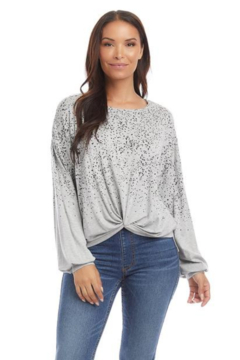 Karen Kane 4L13064 - Printed Twist Front Top - Product List Image
