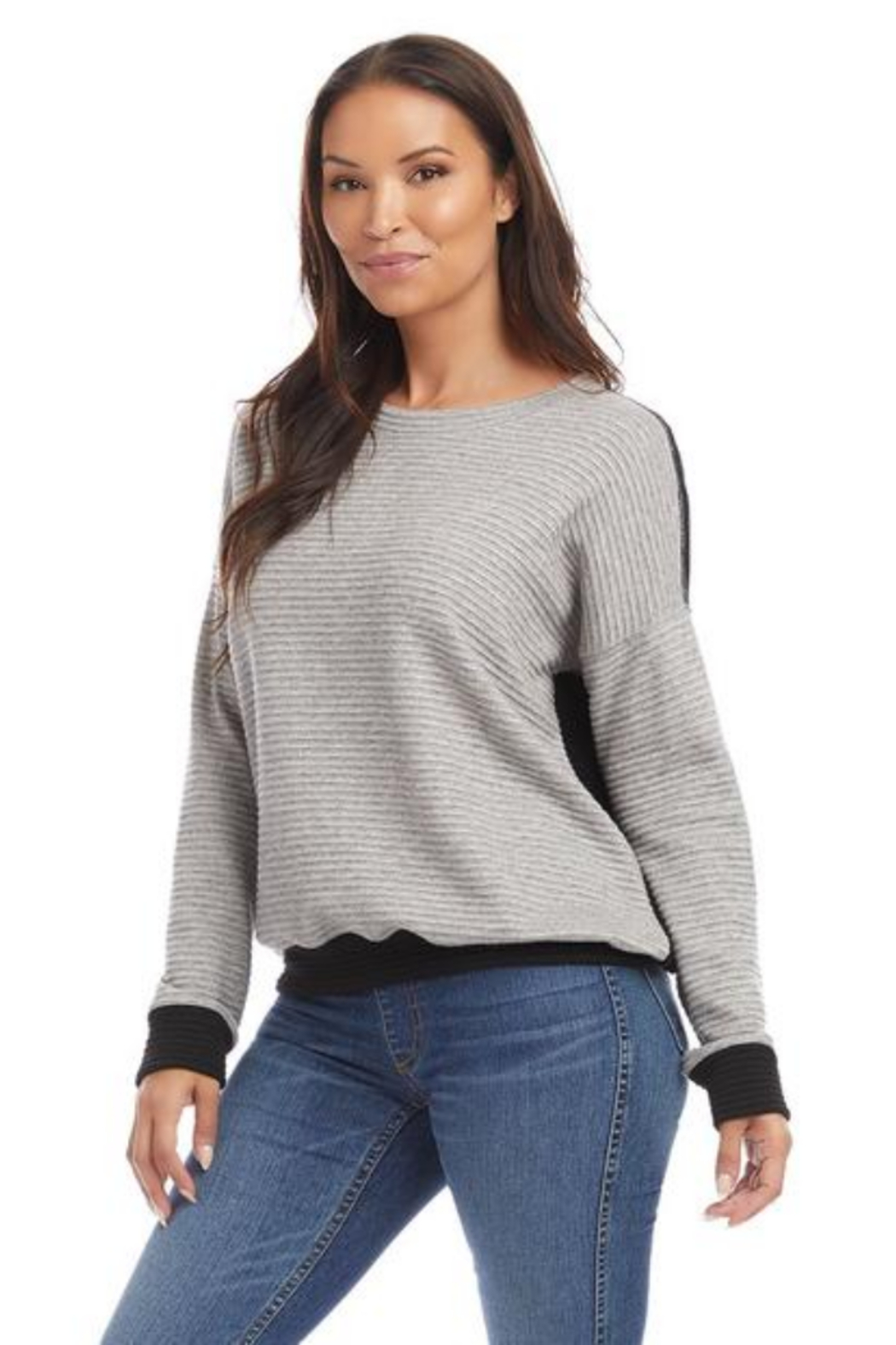 Karen Kane 4L31217 - Colorblock Sweater - Front Full Image