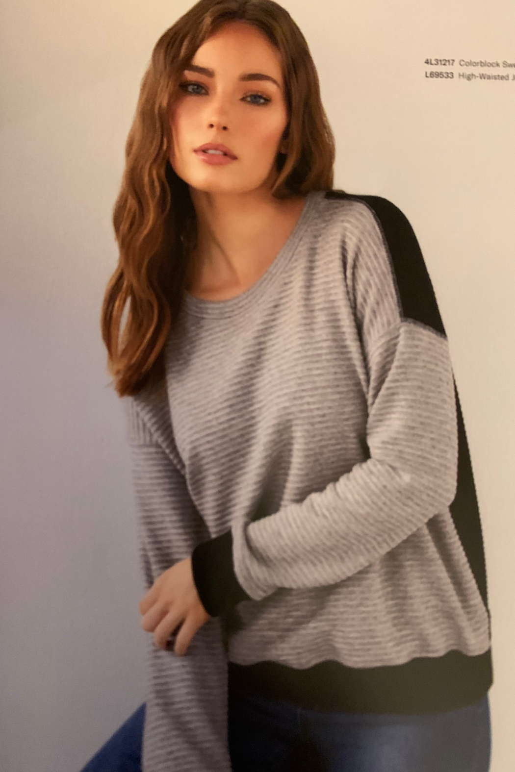 Karen Kane 4L31217 - Colorblock Sweater - Front Cropped Image