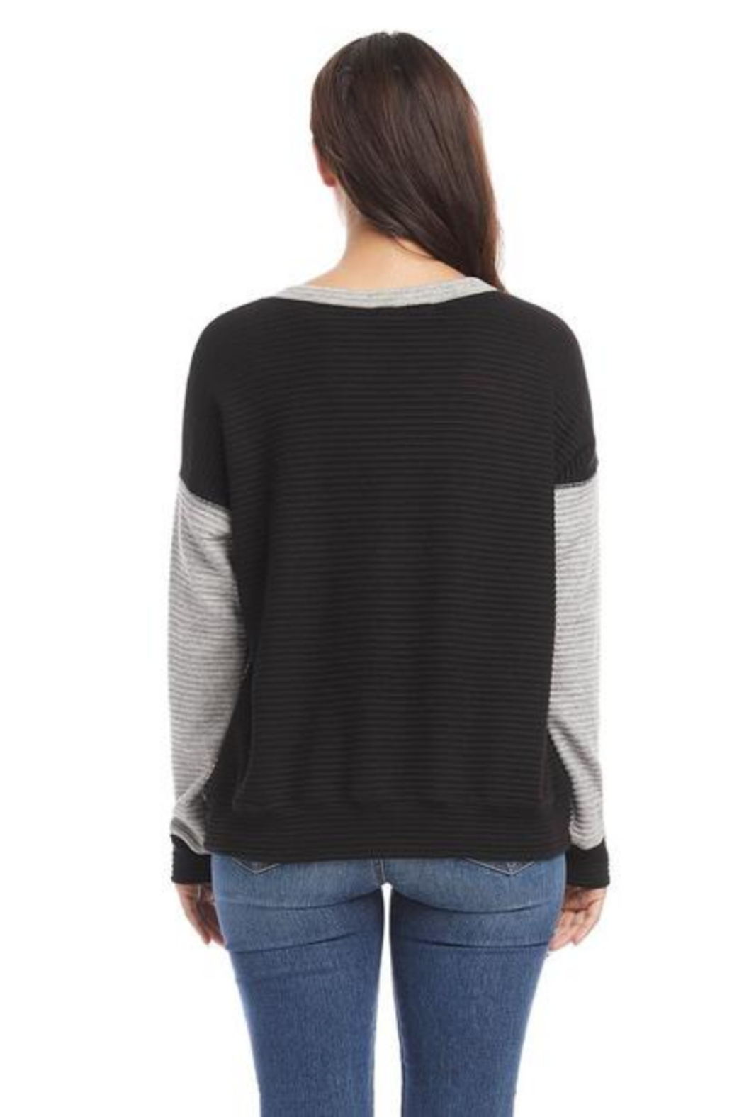 Karen Kane 4L31217 - Colorblock Sweater - Side Cropped Image