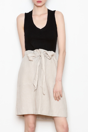 4our Dreamers Tie Linen Skirt - Product Mini Image