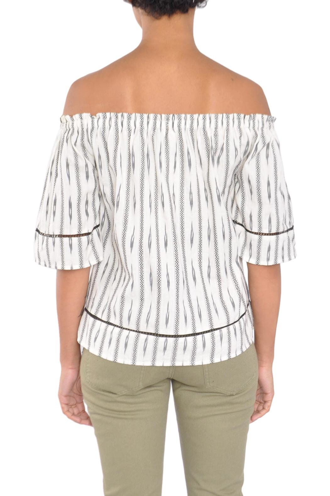 4our Dreamers Ikat Off-Shoulder Top - Side Cropped Image