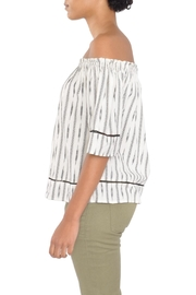 4our Dreamers Ikat Off-Shoulder Top - Front full body
