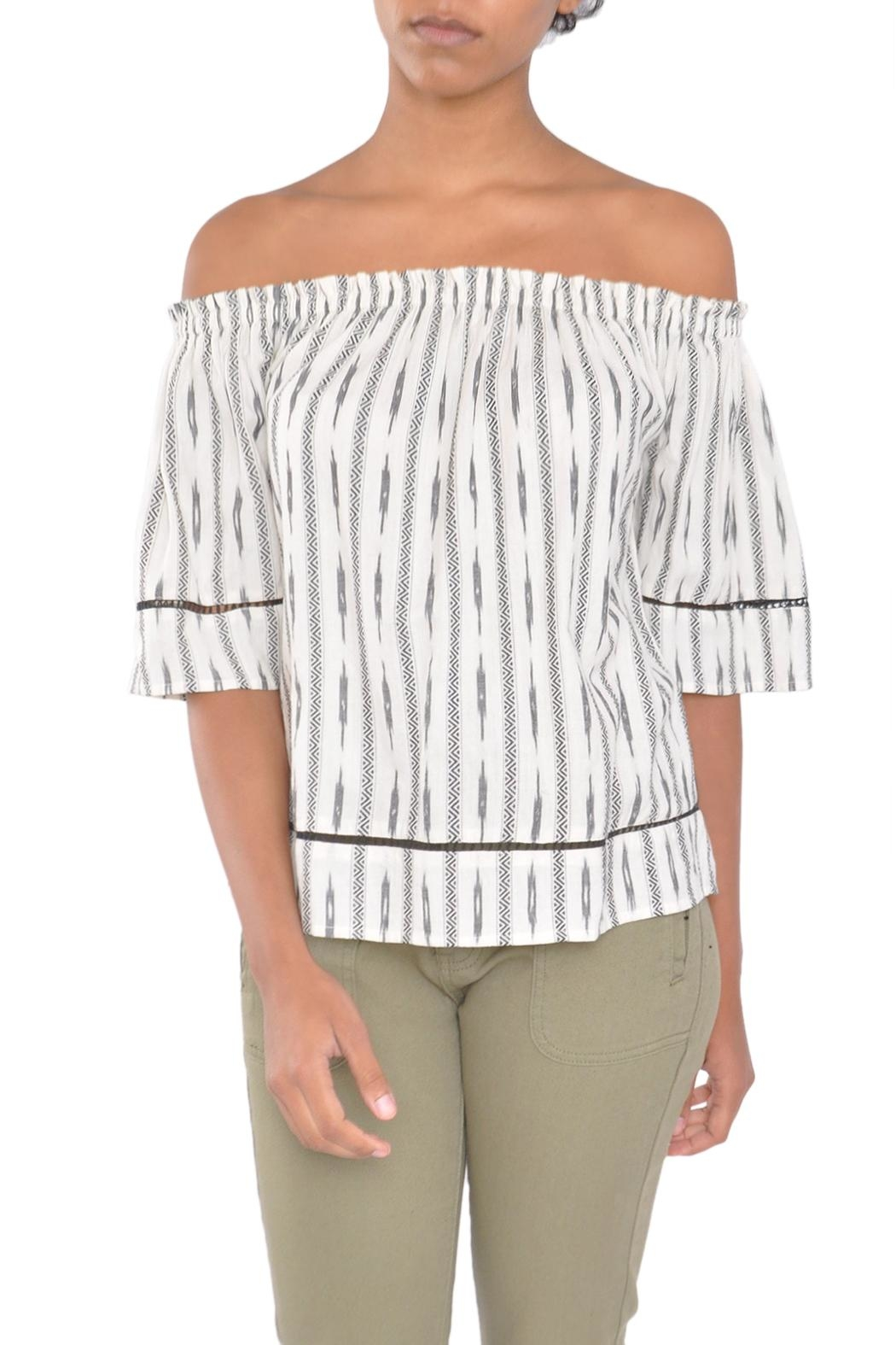 4our Dreamers Ikat Off-Shoulder Top - Main Image