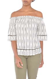 4our Dreamers Ikat Off-Shoulder Top - Front cropped