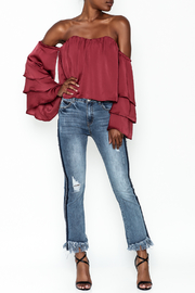 4Sienna Tiered Sleeve Satin Top - Side cropped