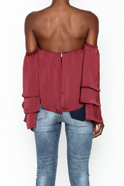 4Sienna Tiered Sleeve Satin Top - Back cropped