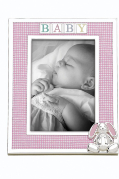 Shoptiques Product: 4x6 Gingham Bunny Baby Frame