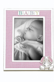 Reed and Barton  4x6 Gingham Bunny Baby Frame - Product Mini Image