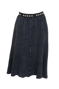 Shoptiques Product: 5 Star Branded Band Waffle Knit Knee Length Skirt