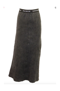 Shoptiques Product: 5 Star Branded Band Waffle Knit Maxi Skirt