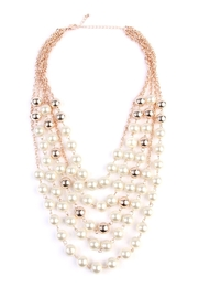 Riah Fashion 5-Strands Pearl Necklace - Product Mini Image
