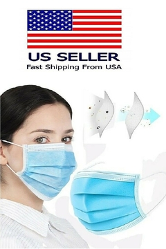 T & Tim 50 pcs 4-Ply Blue Face Mask Earloop Surgical Industrial - Product List Image