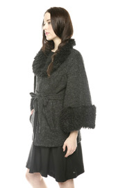 Shoptiques Product: Furry Boucle Cape - Side cropped