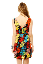 Shoptiques Product: V-Neck Print Dress - Back cropped