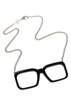 Shoptiques Product: Hipster glasses Necklace