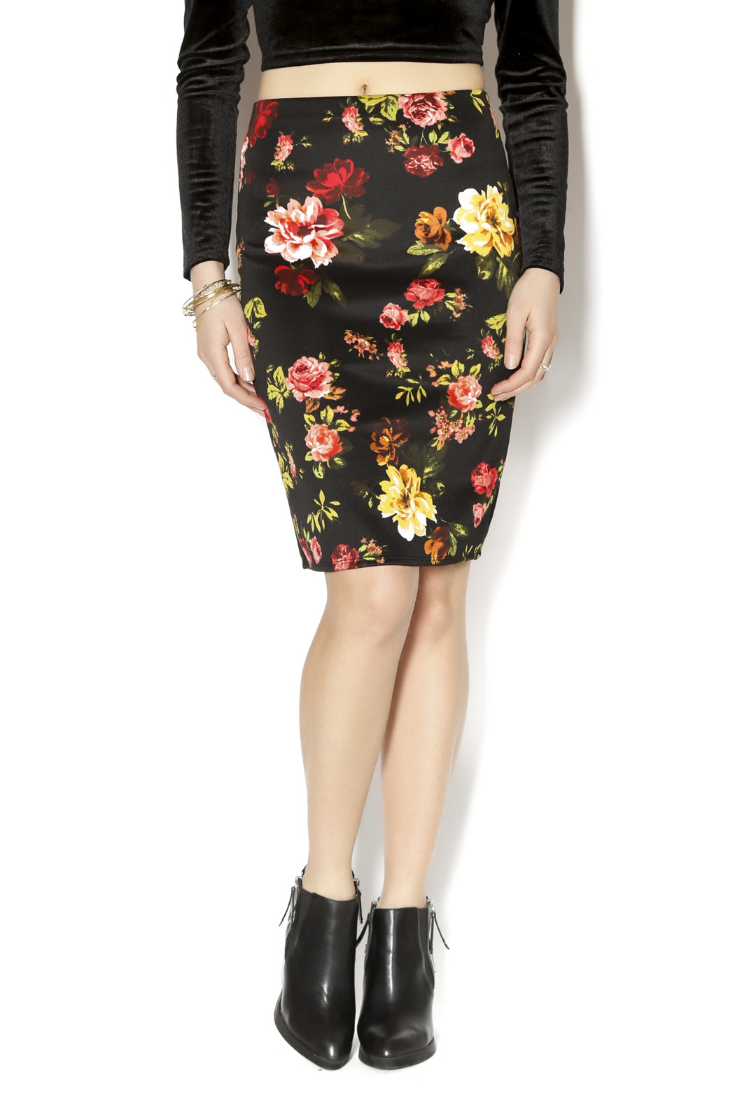Ambiance Floral Pencil Skirt - Main Image