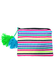 Shoptiques Product: Neon Stripe Cosmetic Bag