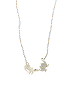 Shoptiques Product: Space Invaders Necklace