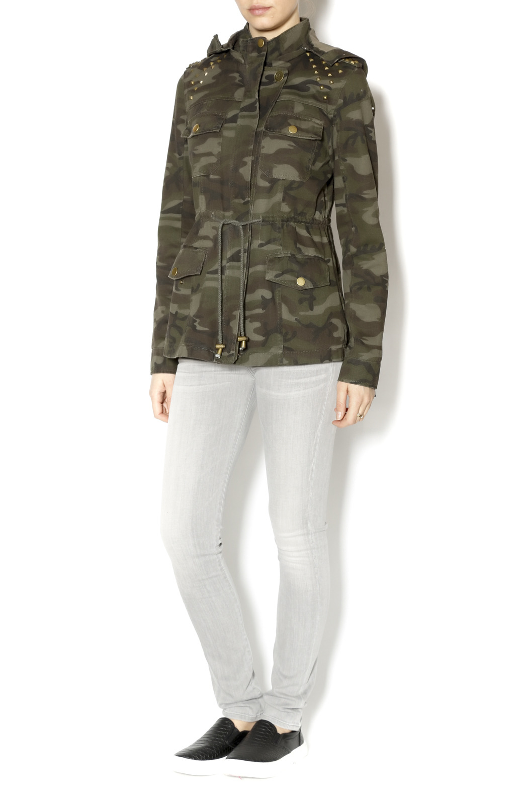 Zenana Outfitters Camo Jacket w/Stud from New York City by Fly Dove NYC u2014 Shoptiques