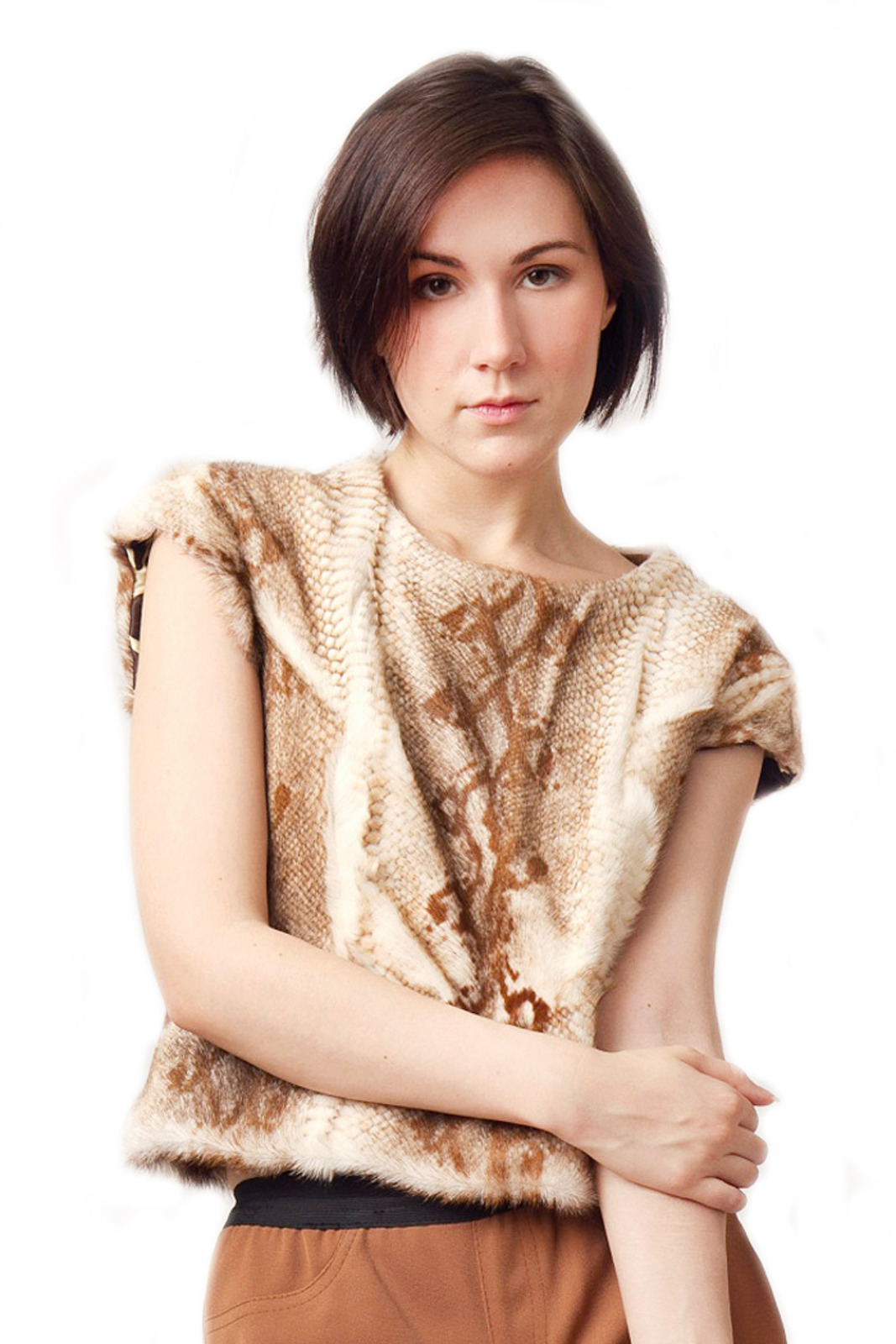 Patricia Del Castillo Python Snake Skin Top - Front Cropped Image