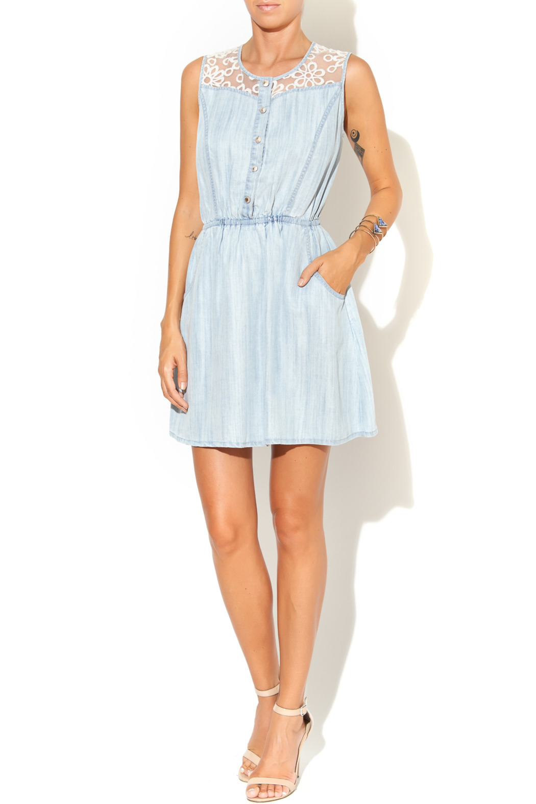 Collective Concepts Denim Dress - Front Full Image