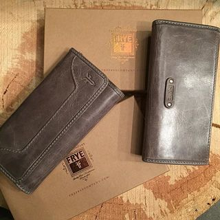 Shoptiques Grey Leather Wallet