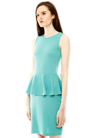Isle Honeycomb Peplum Dress - Side cropped
