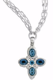 Brighton Neptune Cross Necklace - Front cropped