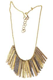 Flocktails Fringed Leather Necklace - Product Mini Image