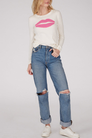 525 America 525 AMERICA COTTON JERSEY LIPS SWEATER - Side cropped