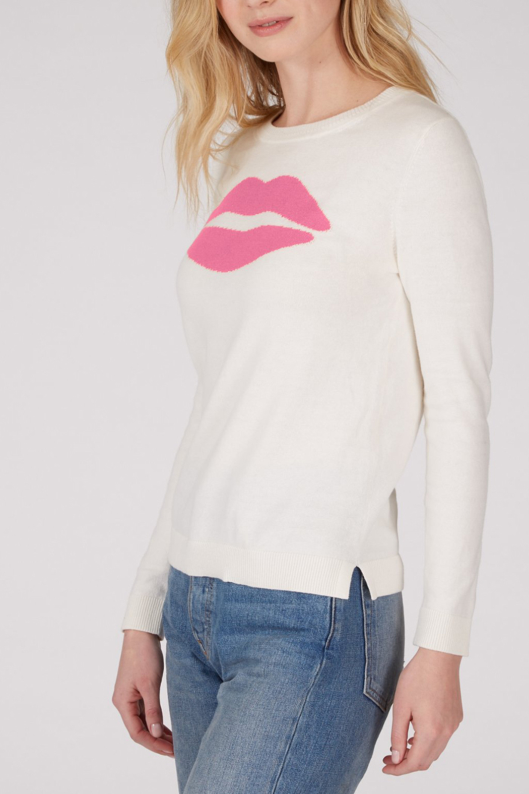 525 America 525 AMERICA COTTON JERSEY LIPS SWEATER - Front Full Image