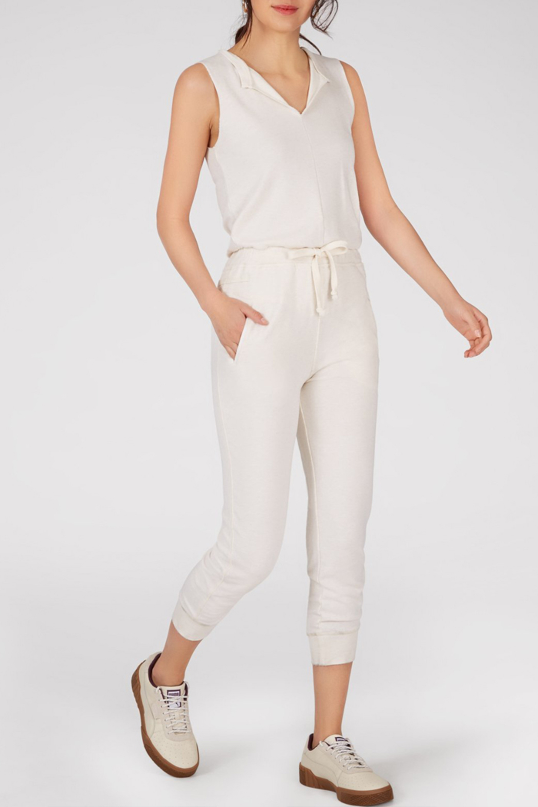 525 America 525 AMERICA SLEEVELESS JUMPSUIT - Front Cropped Image