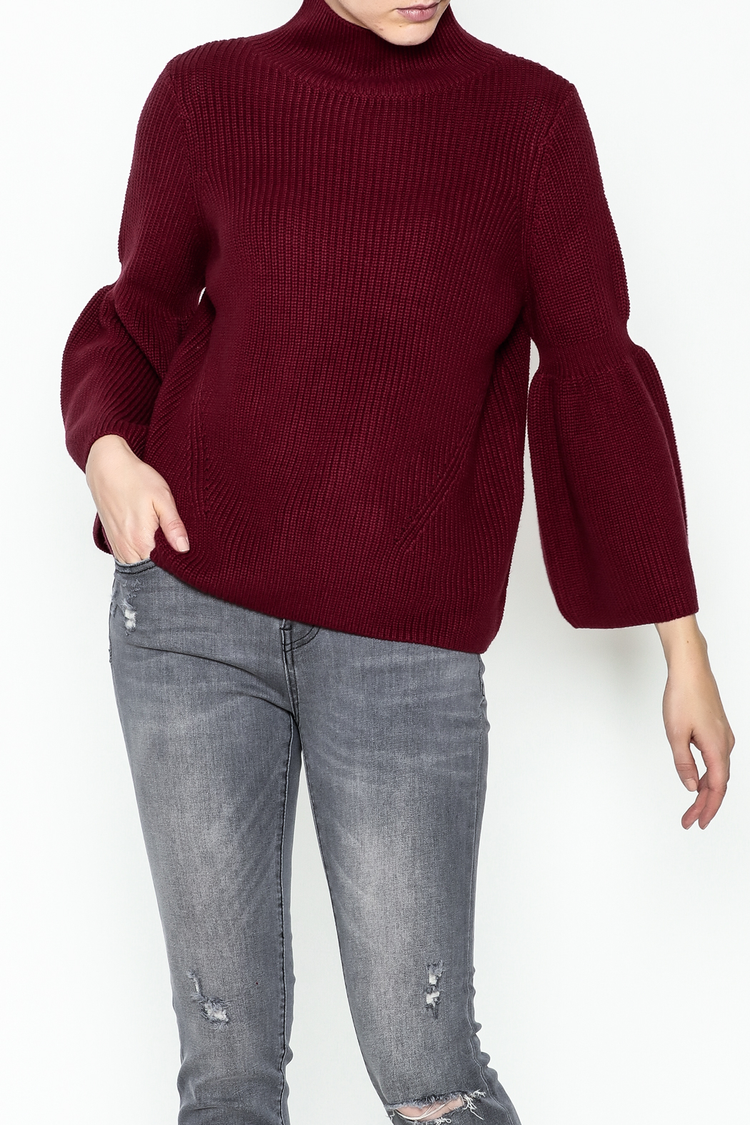 525 Crop Pullover Shaker Top - Main Image