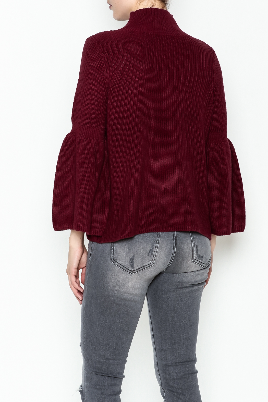 525 Crop Pullover Shaker Top - Back Cropped Image