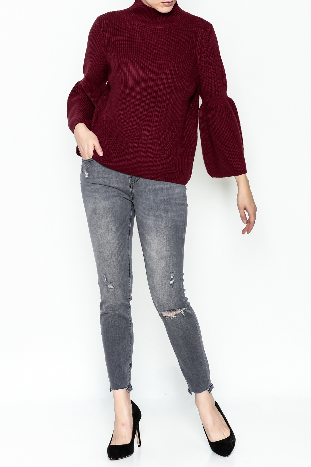 525 Crop Pullover Shaker Top - Side Cropped Image