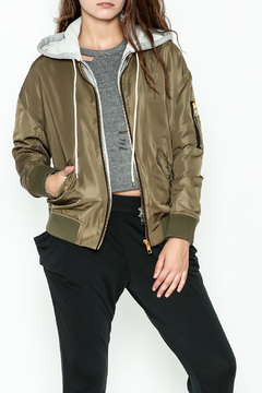 Shoptiques Product: Nylon layered Bomber Jacket