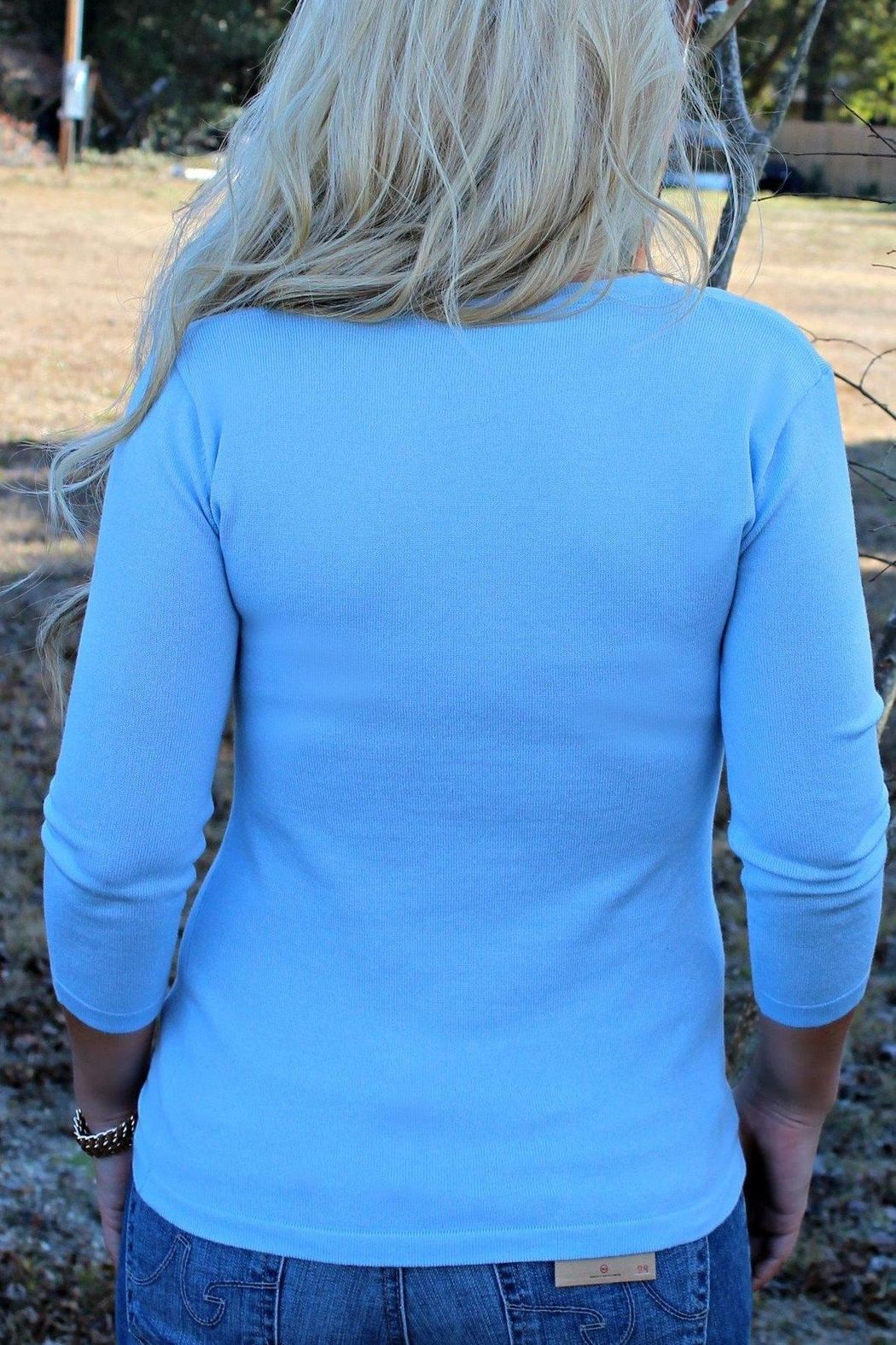 525 America Blue Cameron Sweater - Front Full Image