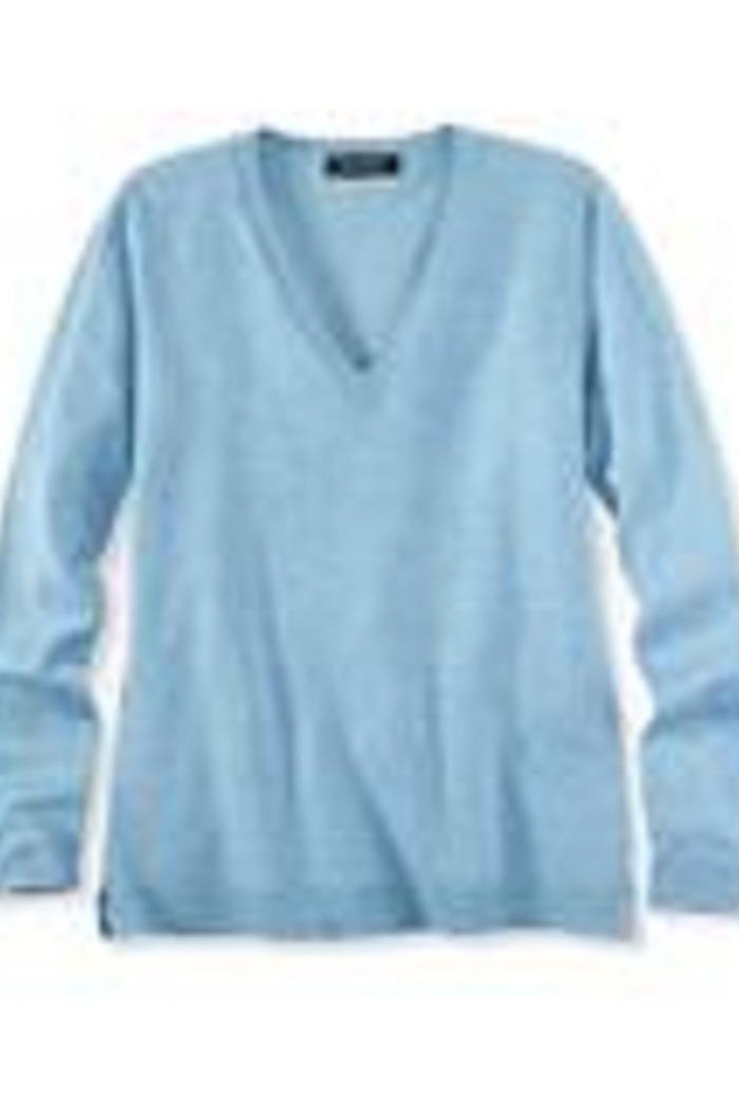 525 America Classic Vneck Sweater - Front Cropped Image