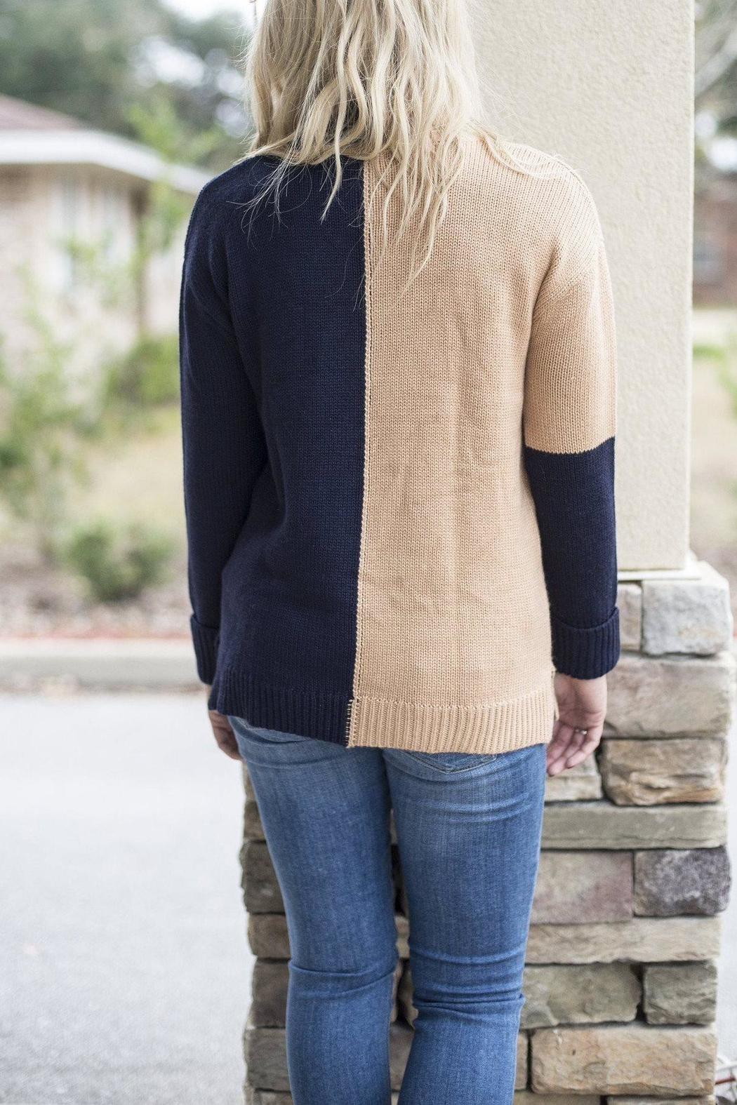 525 America Color Block Sweater - Front Full Image