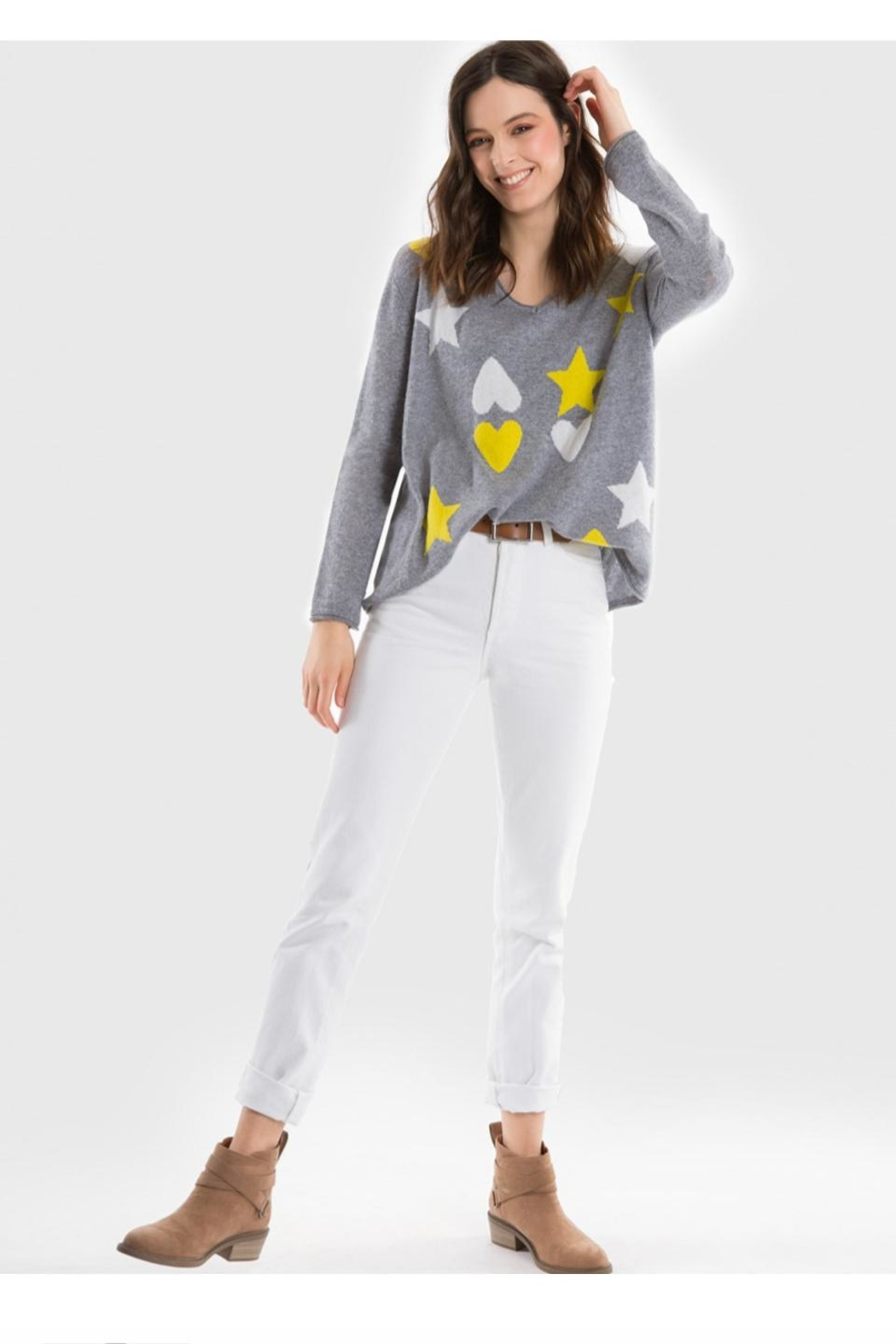 525 America Hearts Stars Sweater - Front Full Image