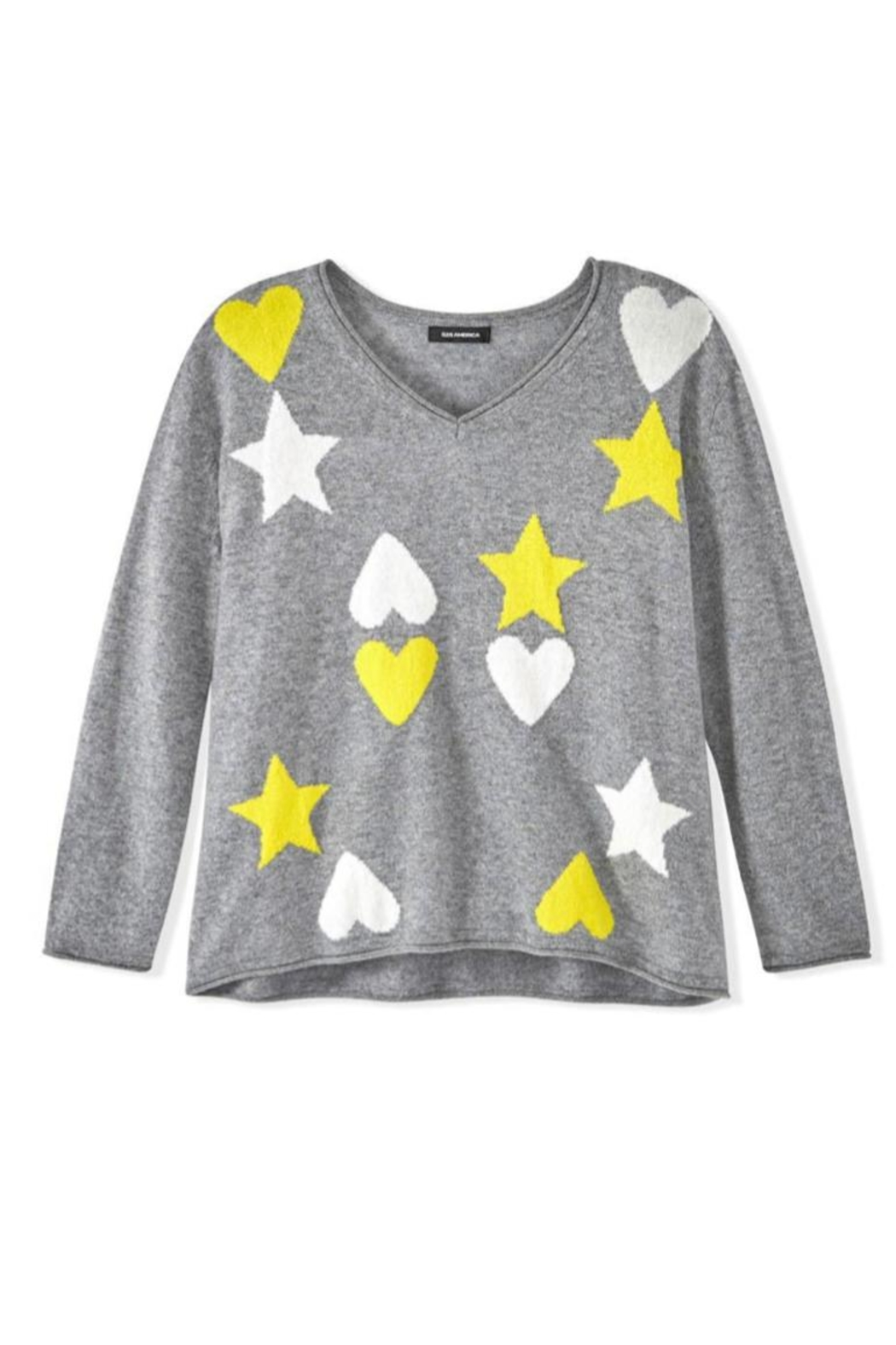 525 America Hearts Stars Sweater - Side Cropped Image